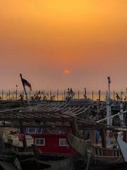 Sunset moments (basem_teacher) Tags: discover inexplore adventure iphone photographer photography lightroom landscape ship seaside sea city kuwait amazing awesome beautiful scenery scene view moments goldenhour sun sunrise sunset