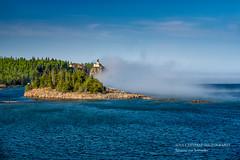 Splitrock Lighthouse, spring 2018 (susannevonschroeder) Tags: lakesuperior fog landscape lighthouse spring minnesota statepark