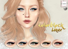 WarPaint @ Vintage Fair - Colorblock liner (Mafalda Hienrichs) Tags: warpaint war paint secondlife vintage fair pale girl productions event bento catwa eyeliner applier makeup colorblock release