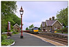 Gas-lamps and Sheds (david.hayes77) Tags: 66426 class66 shed drs directrailservices hortoninribblesdale northyorkshire yorkshire settlecarlisle sc 2018 6k05 networkrail engineerstrain gaslamp cargo freight mr midlandrailway
