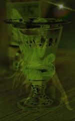 The green fairy (Delphine Wild) Tags: green fairy féeverte absinthe poésie poetic création créatif verte verre illusion art artistic glass ice rêve dream bonheur bouteille bottle canon eos glaçons symbolisme