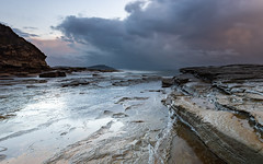 Colours of a storm - Seascape (Merrillie) Tags: daybreak theskillion nature water terrigal nsw rocky sea clouds newsouthwales rocks earlymorning morning landscape centralcoast ocean australia sunrise waterscape coastal outdoors sky seascape dawn coast cloudy waves