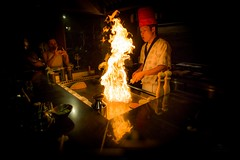 Chef and the Teppanyaki (icemanphotos) Tags: teppanyaki food cooking chef kitchen view show canon