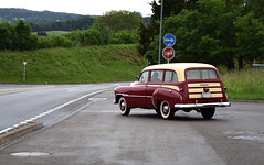 Back On The Road (YIP2) Tags: old oldcar vintage oldtimer driving road chrevrolet chevies chevy transport car nostalgia