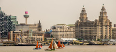Water front (Tony Shertila) Tags: england liverpool seacombe britain europe frigate liverbuilding merseyside outdoorsky river royalnavy ship tallships threegraces transport water wirral yacht wallasey unitedkingdom liver building liverbirds three graces architecture