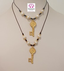 St Benedict Necklace -Takkai (karinapenapr) Tags: blogguers necklace catholic takkaibykarina key gift etsy pearls boho