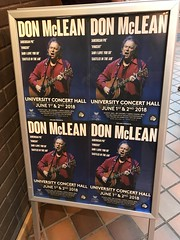 Don McLean In Concert - Tonight - June 1, 2018 - UCH Linerick (firehouse.ie) Tags: posters poster livemusic legendary legend countryrock country songs song universityoflimerick ul universityconcerthall musician music folkrock rockandroll byebyemissamericanpie artist songwriter singer ireland limerick inconcert event live donmclean gigs gig gog concerts concert