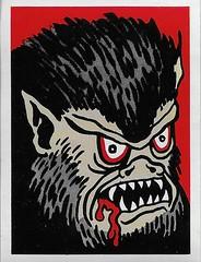 Spook Theatre Sticker ( Leaf 1961 ) (Donald Deveau) Tags: leaf spooktheatre spookstories werewolf monster horror tradingcards sticker