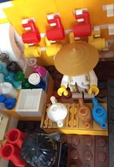 Master Wu's temple of tea (The original SimonB) Tags: lego minifigs minifigures moc mod senseiwu ninjago masterwu
