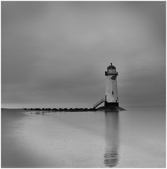Talacre Lighthouse, Point of Ayr (Charles Connor) Tags: talacrelighthouse talacre pointofayr northwales seascapes lighthouses longexposures 10stopndfilter landscapephotography canon5d3 canonef24105mmlens reflections smoothwater smooth