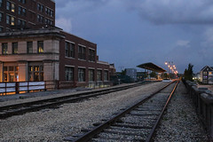 Memphis Train Station (pasa47) Tags: 2018 may spring canon 6d 40mmpancakelens memphis tennessee unitedstates us tn thesouth night