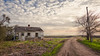 See Right Through (Wayne Stadler Photography) Tags: path sunset farmhouse home aged rural empty homestead countryside abandoned road abandonment derelict house farm texas ruins