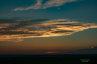 ... sunset over badlands