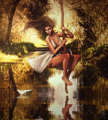 In order to love who you are, you cannot hate the experiences that shaped you... (trendyandcoffee) Tags: secondlife sl avatar girl dream river autumn summer breeze hair photoshop love art artist feels lonely relax sun woman dress style childhood memories