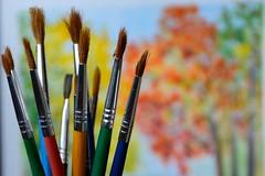 Colour branches ... (Raquel Borrrero) Tags: handtool macromondays painting colours brush pincel pintura árbol ramas branches trees nikon sigma