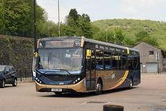 SW 26099 @ Pontypridd bus station (ianjpoole) Tags: stagecoach wales alexander dennis enviro 200mmc yx66wkf 26099 working gold route 132 tresillian way cardiff maerdy terminus
