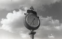 Depot Clock ICCD (Neal3K) Tags: bw blackandwhite d76developer fpp200film filmphotographyproject henrycountyga georgia iccd2018