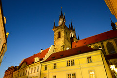 Old Prague (Francisco Anzola) Tags: prague praha czechrepublic czechia centraleurope night lights tower cathedral medieval