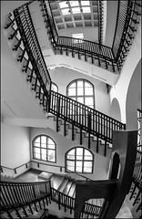 chaotic order (Armin Fuchs) Tags: arminfuchs würzburg fh staircase windows fisheye stripes