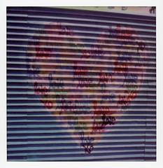 Venice Heart (tobysx70) Tags: polaroid originals color sx70 instant film sx70sonar sonar venice heart rose avenue los angeles la california ca ruben rojas beautify earth mural graffiti urban street art love shadows polawalk polarendezvous 051518 toby hancock photography