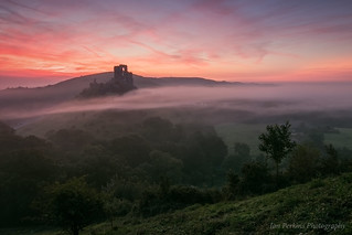 Sunrise at Corfe Castle, Dorset