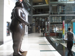Tall Lady Woman Sculpture by Botero 2018 NYC 3608 (Brechtbug) Tags: woman sculpture by fernando botero colombian artist metal bronze nude female art sculptures front glassed lobby time warner building columbus circle thinker thinking wings nudes architecture statues statue gargoyle gargoyles new york city broadway store shopping center mall heavy zaftig puffy hefty big boned sturdy tall 2018 nyc 06152018 lady