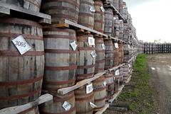 Wolfhead Barrels (peterkelly) Tags: digital canon 6d northamerica ontario canada amherstburg wolfheaddistillery barrels alcohol wooden wood wall stack rust rusted rusty barrel