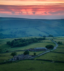 Five Lane Ends Sunset (kieran_metcalfe) Tags: 80d sheep landscape sunset nature derbyshire 3leggedthing canon rays countryside formatthitech hillls cloud iso100 trees sky farm farming rural fireinthesky peakdistrict
