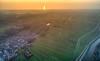 Reflection of the setting sun in the North Sea. (Alex-de-Haas) Tags: dji dutch europa holland nederland nederlands netherlands noordholland noordhollandschkanaal noordzee northsea phantom phantom4 phantom4pro schoorl uav aerial aerialphotography air canal drone kanaal landscape landschaft landschap lente lucht luchtfotografie polder sea skies sky skyscape spring sundown sunset village water waterway waterweg zee zonsondergang warmenhuizen nl