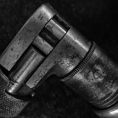 Motion Changer (arbyreed) Tags: arbyreed macromondays handtool squareformat tool drill brace handbrace teninchreversablebrace old oldtool metal texture tones monochrome blackandwhite bw woodworking woodworkingtool