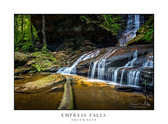 Empress Falls (sugarbellaleah) Tags: lush waterfall tranquil nature environment log water fresh flowing cascading rocks geology landscape green moss lichens bushland wilderness nationalpark bluemountains rockpool eco amazing cold chilly pristine quiet solitude adventure hike trek bushwalk outdoors recreation