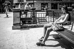 Salander (169/365) (Walimai.photo) Tags: black white millenium lisbethsalander blanco negro candid street calle portrait retrato robado salamanca lx5 lumix panasonic byn bw branco preto blanc noir plazadesantaeulalia