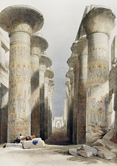 Great Hall at Karnak temple in Thebes illustration by David Roberts (1796-1864). (Free Public Domain Illustrations by rawpixel) Tags: egyptian otherkeywords ancient antique architecture building builtstructure cc0 dancinggirlsofcairo davidroberts drawing drawn egypt ghawázees greathall greathallatkarnaktemple handdrawing handdrawn illustrated illustration karnak karnaktemple old publicdomain sketch structure temple thebes vintage