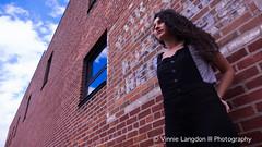 Model: Brittany (VinnieLangdonIIIPhotography) Tags: brittany model pittston city nepa northeast pennsylvania vinnielangdoniii portrait black white brick blue skies clouds