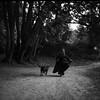 Anywhere on this road (Arslan Ahmedov) Tags: anywhere road black white bw blanc noir medium 6x6 120 film analogue rolleiflex sl66 ilford katiachausheva frida dog bulgaria woods