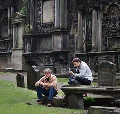 Greyfriars Guitar (Dave Dixon LRPS) Tags: edinburgh greyfriars people guitar grave graveyard church churchyard music