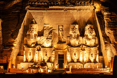 Abou Simbel (Anthony Gehin) Tags: egypt ramses abou simbel temple night light