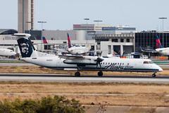 Alaska Airlines (Horizon Air) Bombardier Dash-8 Q400 N416QX (jbp274) Tags: lax klax airport airplanes alaskaairlines horizonair qx bombardier dash8 q400 dhc8