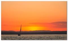 Sailing in Sunset (Bent Kverme) Tags: sunset norway nature oslo ocean water