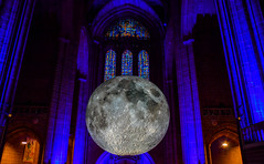 Museum of the Moon - EXPLORE (Claire Louise Beyga) Tags: live liverpool cathedral anglican moon nasa art instalation museumofthemoon lukejerrum crater liverpoolwaterfront suset sunset nikon dslr photography explore