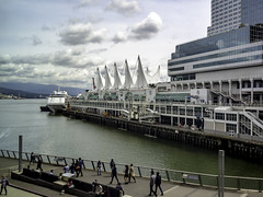No big ships today (Tony Tomlin) Tags: vancouver vancouvercruiseterminal vancouverport canadaplace harbour vessel silvershadow