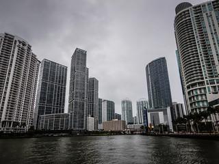 Condo Towers along Biscayne Bay and Miami River - Miami FL