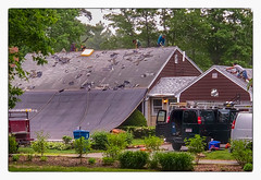 Let the work begin... (Timothy Valentine) Tags: 2018 0618 roof digitalzoom people datesyearss intheneighborhood working eastbridgewater massachusetts unitedstates us