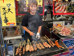Street vendor at the Japan Traditional Culture Festa (Eddie Diaz Photography Collection) Tags: street vendor festival tokyo japan japanese beef stick tradition fun delicious sale merchant festive celebrate asia
