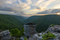 Mountain State Sunset (John H Bowman) Tags: westvirginia tuckercounty parks stateparks blackwaterfallsstatepark lindypoint sunsets riversandstreams blackwaterriver may2018 may 2018 canon16354l