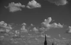 Clouds... (hobbit68) Tags: wolken clouds sky himmel kirche kirchturm blackwhite schwarzweis