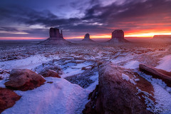 Majestic Monuments (JMK/Photography) Tags: navajo jmkphotography arizona southwest nikon d810 sandstone snow sunrise epic purple mittens buttes merrick butte winter beautiful landscape utah outdoor pagearizona monumentvalley navajoland 1635mmf4 wideangle redrock rockformations merrickbutte longexposure landscapephotography themittens viewhotel page southwestus optoutside hiking hike navajonation