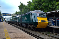 43041 + 43130 - Reading West - 31/05/18. (TRphotography04) Tags: great western railways gwr hst 43041 meningitis trust support for life 43130 rumble past reading west working 1c77 1033 london paddington paignton