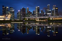 Singapore (adrianying) Tags: landscape city cityscape nightphotography nightshot architecture reflection skyline urbanphotography longexposure sonyimage sonya7iii bluehour skyscaper water buildings