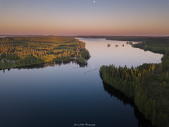 Gradient Sky (laurilehtophotography) Tags: suomi finland laukaa kuusaa sunset sky moon water reflections calm evening summer dji mavic pro fc220 nature landscape aerial drone photography forest trees amazing europe view